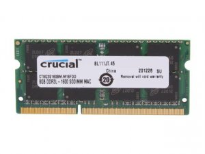 Crucial 8GB (1 x 8GB) DDR3-1600 Memory (CT8G3S160BM) 1.35v SO-DIMM