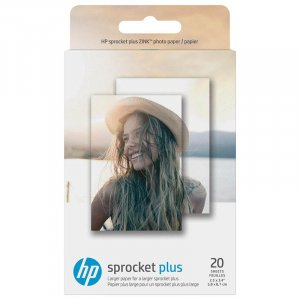 "HP Sprocket Plus Photo Paper - 20 sticky-backed sheets 2.3"" x 3.4"""