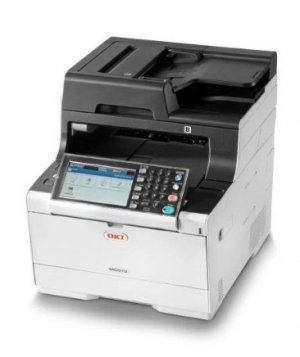 Oki Mc573dn Colour A4 30 - 30ppm Network Airprint, Google Cloud Print,  Duplex 350 Sheet +options  4-in-1 Mfp With 7 Inch Colour Touch Panel