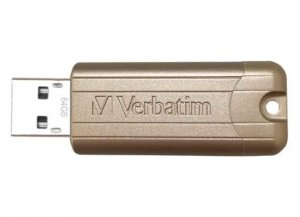 VERBATIM 64GB GOLD PINSTRIPE USB LIMITED EDITION