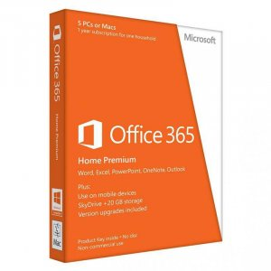 Microsoft Office 365 Home (5 Devices) - 1 Year - Digital Download 6GQ-00093
