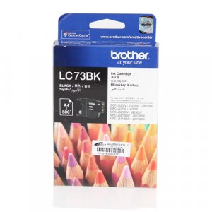 Brother LC73BK BLACK HIGH YIELD INK CARTRIDGE - UP TO 600 PAGES