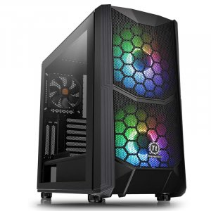 Thermaltake Commander C35 Tempered Glass ARGB Mid-Tower ATX Case CA-1N6-00M1WN-00