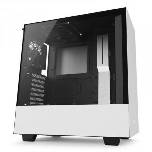 NZXT H500 Compact Mid-Tower Case - Matte White