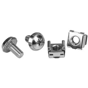 StarTech M6 Rack Screws and M6 Cage Nuts - M6 Nuts and Screws - 20 Pack CABSCRWM620