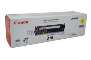 Canon Cart316y Cart316y Yllw Toner Cart For Lbp5050