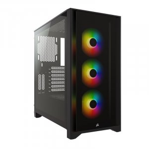 Corsair iCUE 4000X RGB Tempered Glass Mid-Tower ATX - Black CC-9011204-WW