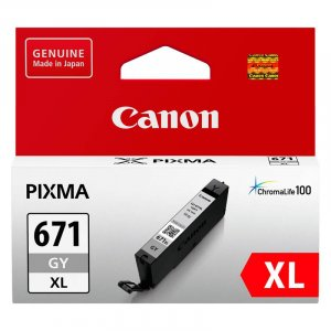 Canon CLI-671XLGY High Capacity Grey Ink Cartridge
