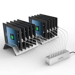 Orico DUA-10P-SV 10-Port USB Super Charger with Aluminium Tablet Stand - Sliver