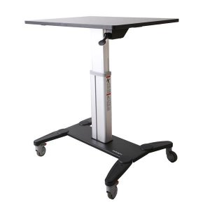 StarTech Mobile Sit Stand Workstation with 31.5