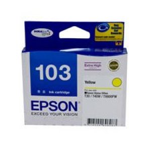 EPSON EXTRA HIGH CAPACITY YELLOW INK FOR T40W,TX600FW,T30