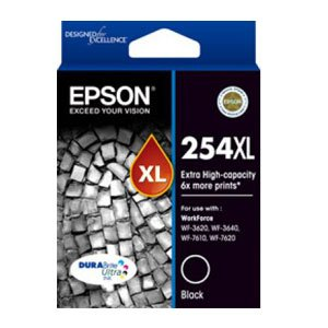 Epson 254XL High Yield Black Ink Cartridge 2,200 pages T254192