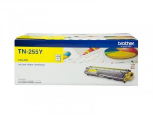 Brother TN-255Y High Yield Yellow Toner - Up to 2,200 Pages