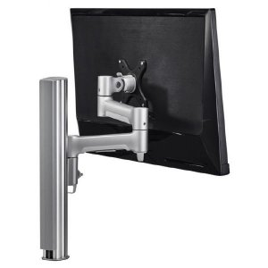 Atdec Awm Single Monitor Arm Solution - 460mm Articulating Arm - 400mm Post - F Clamp - Black