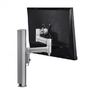 Atdec Awm Single Monitor Arm Solution - 460mm Articulating Arm - 400mm Post - Grommet Clamp - Black