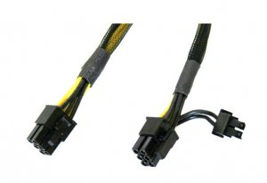 Intel Axxgpgpucable Gpgpu Cable Accessory, 430mm 6 Pin To 6/8 Pin Power Connector