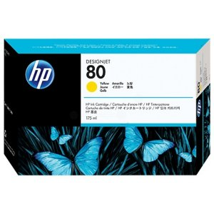 Hp C4873a 80 175ml Yellow Ink Cart C4873a