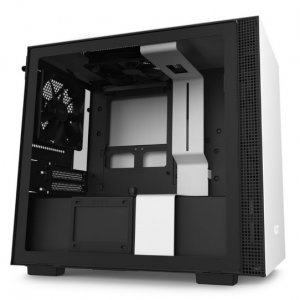 NZXT H210 TG Tempered Glass Mini-ITX Case - Matte White