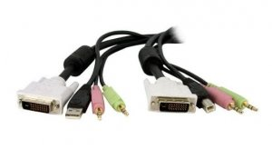 Startech Dvid4n1usb6 4-in-1 Usb Dvi Kvm Switch Cable W/ Audio