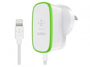 Belkin F8J204BG06-WHT Boost Up 2.4a Home Charger Hardwired Lightning Cable,1.8m,2yr Wty