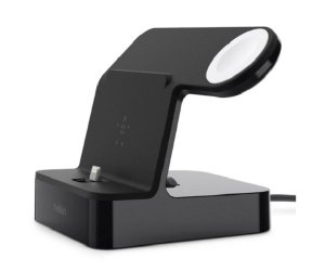 Belkin F8j237aublk Powerhouse Charge Dock For Apple Watch & Iphione, Black, 2 Yr Wty