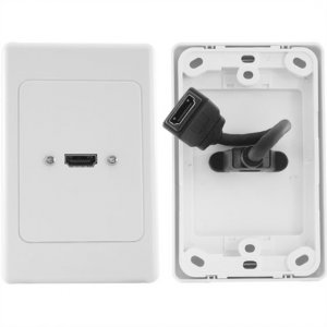 Pro2 Hdmi Single Wall Plate With Flexible Rear Socket