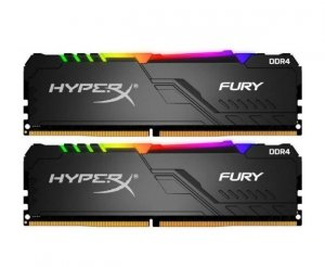Kingston HyperX Fury RGB 32GB (2x 16GB) DDR4 3200MHz Memory HX432C16FB3AK2/32