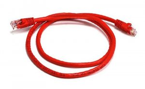 8ware Cat6a Utp Ethernet Cable 0.5m (50cm) Snagless red