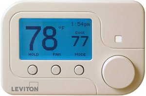 Leviton Security & Automation Omnistat2 Wireless Single Stage Conventional Heat Pump Control - Zigbee - White