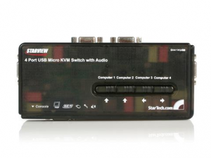 Startech Sv411kusb 4 Port Usb Kvm Switch W/ Audio & Cables