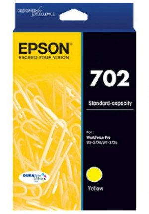 EPSON 702 Std Yellow Ink Durabrite - Wf-3720, Wf-3725