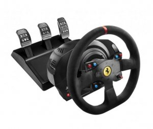 Thrustmaster Tm-4160653 T300 Ferrari Integral Racing Wheel Alcantara Edition For Ps3, Ps4 & Pc