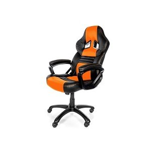 Arozzi Aro-monza-or Black & Orange Monza Adjustable Ergonomic Motorsports Inspired Desk Chair