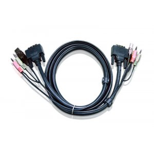 Aten 2L-7D03UD 3m Dual Link Dvi Kvm Cbl Cable W/audio To Suit Cs178xa