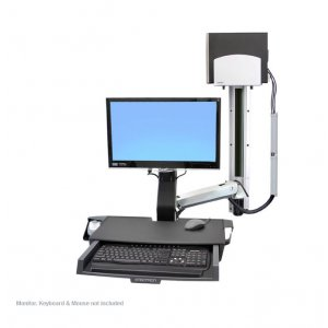 Ergotron 45-270-026 StyleView® Sit-Stand Combo System with Worksurface