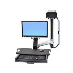 Ergotron 45-272-026 StyleView Sit-Stand Combo System with Worksurface