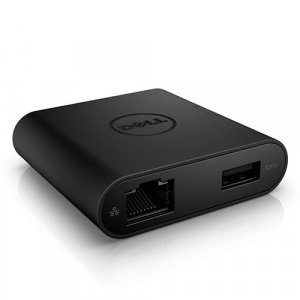 Dell 470-abnl Da200 Usb-c Adapter, Usb(1), Hdmi(1), Vga(1), Lan(1), 1yr