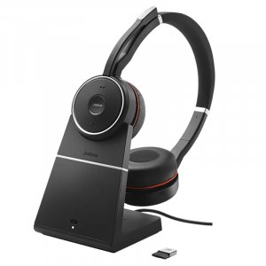 Jabra Evolve 75 MS Stereo Headset with Charging Stand
