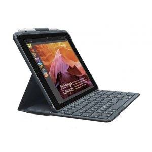Logitech Slim Folio Case Cover With Bluetooth Keyboard For Ipad 9.7' 2017 5th 6th Gen