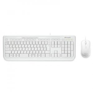 Microsoft Wired Desktop 600 USB WHITE - Keyboard and Mouse Combo