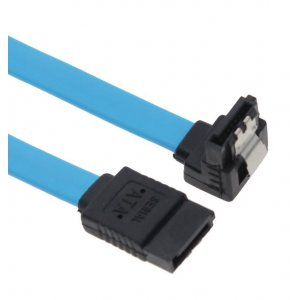Astrotek Sata 3.0 Data Cable 50Cm Male To Male 180 To 90 Degree With Metal Lock 26Awg Blue (AT-SA