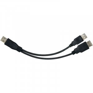 Astrotek Usb 2.0 Y Splitter Cable 30Cm - Type A Male To Type A Male + Type A Female Black Colour