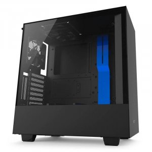 NZXT H500i Compact RGB Mid-Tower Case - Matte Black & Blue