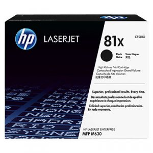 HP #81X Black Toner CF281X 25,000 pages