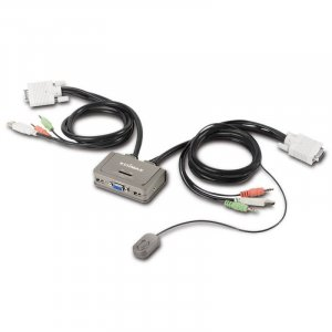 Edimax 2-port Usb Kvm Switch With Cables And Audio Support