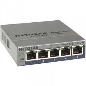 NETGEAR GS105E-200AUS ProSafe Plus 5-port Gigabit Ethernet Switch