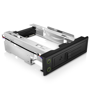 "ICY BOX IB-166SSK-B Trayless Mobile Rack for 3.5"""" SATA/SAS HDD"