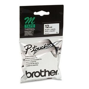 Brother MK231 P-touch Tape 1/2 In X 26.2 FT Black On White