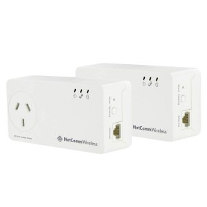 Netcomm NP511 500Mbps Powerline Kit with AC Pass-T