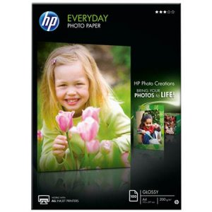 HP EVERYDAY PHOTO PAPER, GLOSSY,100 SHT